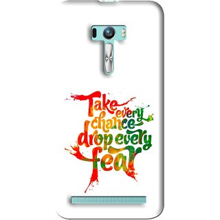 Snooky Printed Drop Fear Mobile Back Cover For Asus Zenfone Selfie - Multi