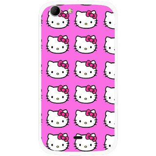 Snooky Printed Pink Kitty Mobile Back Cover For Micromax Canvas 4 A210 - Multicolour