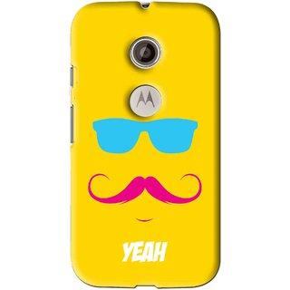 Snooky Printed Yeah Mobile Back Cover For Motorola Moto E2 - Multi