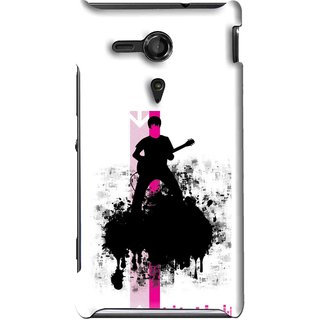 Snooky Printed Music In Air Mobile Back Cover For Sony Xperia SP - Multi