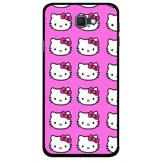 Snooky Printed Pink Kitty Mobile Back Cover For Samsung Galaxy J5 Prime - Multicolour