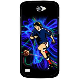 Snooky Printed Football Passion Mobile Back Cover For Gionee Pioneer P3 - Multicolour