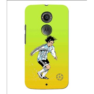 Snooky Printed Focus Ball Mobile Back Cover For Moto X 2nd Gen. - Multi