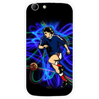 Snooky Printed Football Passion Mobile Back Cover For Micromax Canvas 4 A210 - Multicolour