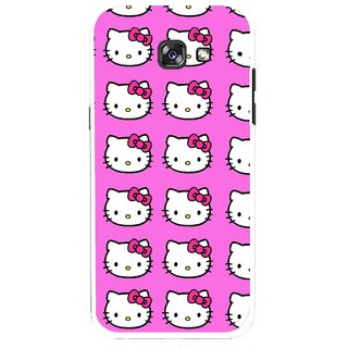 Snooky Printed Pink Kitty Mobile Back Cover For Samsung Galaxy A5 (2017) - Multicolour