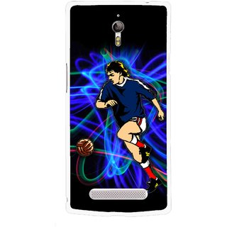 Snooky Printed Football Passion Mobile Back Cover For Oppo Find 7 - Multicolour