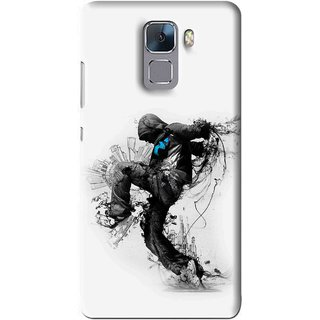 Snooky Printed Enjoying Life Mobile Back Cover For Huawei Honor 7 - Multi