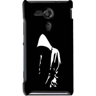 Snooky Printed Thinking Man Mobile Back Cover For Sony Xperia SP - Multi