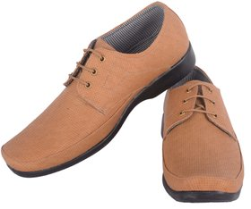 Austrich Tan Lace Up Formal Shoes