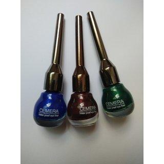 3 Different Colour Liquid Eyeliner