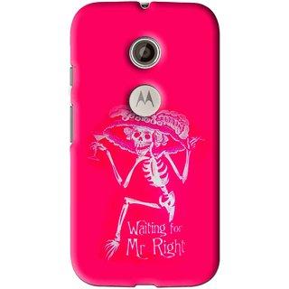 Snooky Printed Mr.Right Mobile Back Cover For Motorola Moto E2 - Multi