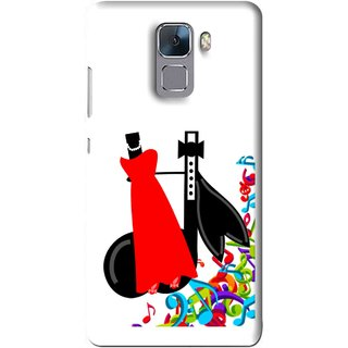Snooky Printed Fashion Mobile Back Cover For Huawei Honor 7 - Multi