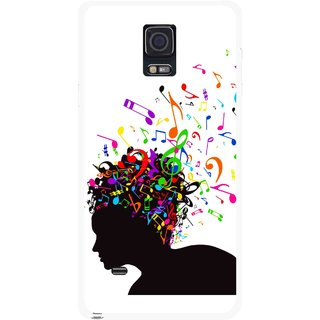 Snooky Printed Music Lover Mobile Back Cover For Samsung Galaxy Note 4 - Multicolour