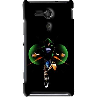 Snooky Printed Hero Mobile Back Cover For Sony Xperia SP - Multi