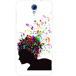 Snooky Printed Music Lover Mobile Back Cover For HTC Desire 620 - Multicolour