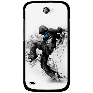 Snooky Printed Enjoying Life Mobile Back Cover For Gionee Pioneer P3 - Multicolour