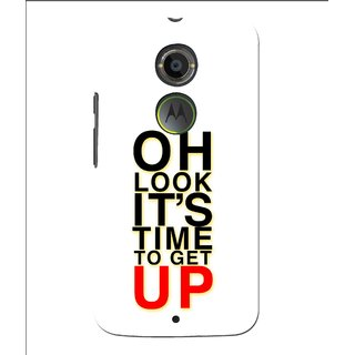 Snooky Printed Get Up Mobile Back Cover For Moto X 2nd Gen. - Multi