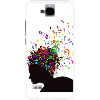 Snooky Printed Music Lover Mobile Back Cover For Huawei Honor Holly - Multicolour