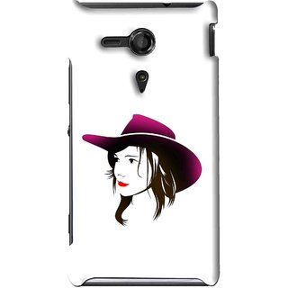 Snooky Printed Tom Boy Mobile Back Cover For Sony Xperia SP - Multi