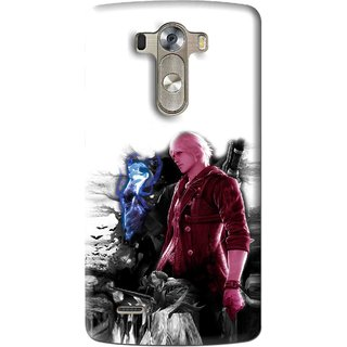 Snooky Printed Fighter Boy Mobile Back Cover For Lg G3 - Multi