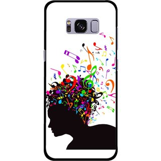 Snooky Printed Music Lover Mobile Back Cover For Samsung Galaxy S8 Plus - Multicolour