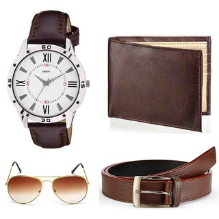 Holboro Fashion Accessories for Men Wallet, Eye Protector, Belt  Origin Watch