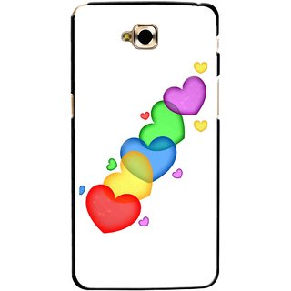 Snooky Printed Colorfull Hearts Mobile Back Cover For Lg G Pro Lite - Multicolour