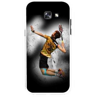 Snooky Printed Badminton Mania Mobile Back Cover For Samsung Galaxy A5 (2017) - Multicolour