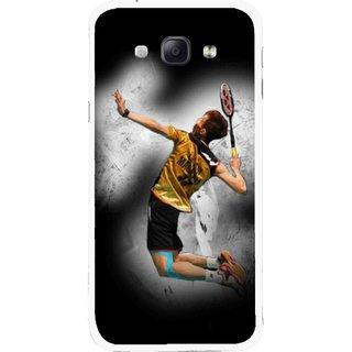 Snooky Printed Badminton Mania Mobile Back Cover For Samsung Galaxy A8 - Multicolour