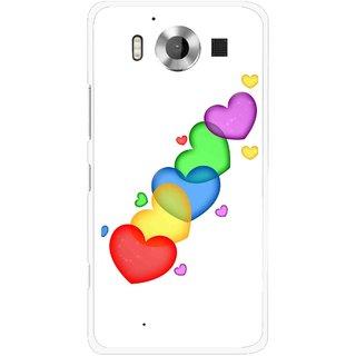 Snooky Printed Colorfull Hearts Mobile Back Cover For Microsoft Lumia 950 - Multicolour