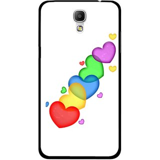 Snooky Printed Colorfull Hearts Mobile Back Cover For Samsung Galaxy Mega 2 - Multicolour