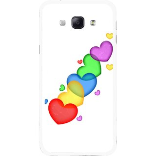 Snooky Printed Colorfull Hearts Mobile Back Cover For Samsung Galaxy A8 - Multicolour