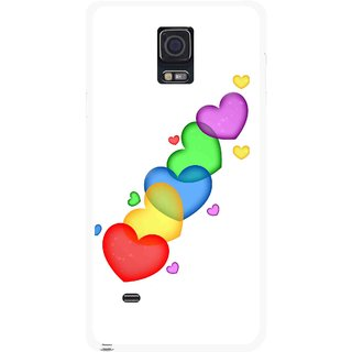 Snooky Printed Colorfull Hearts Mobile Back Cover For Samsung Galaxy Note 4 - Multicolour