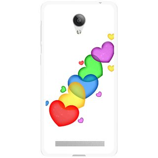 Snooky Printed Colorfull Hearts Mobile Back Cover For Vivo Y28 - Multicolour