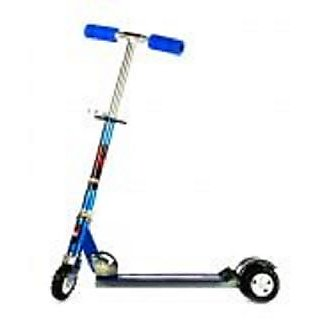 Kids Scooter With Tractor Wheels Blue