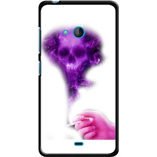 Snooky Printed Danger Mobile Back Cover For Nokia Lumia 540 - Multicolour