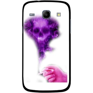 Snooky Printed Danger Mobile Back Cover For Samsung Galaxy Core - Multicolour