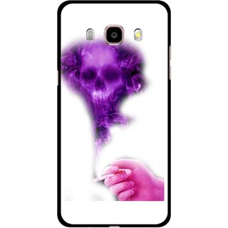 Snooky Printed Danger Mobile Back Cover For Samsung Galaxy J7 (2016) - Multicolour