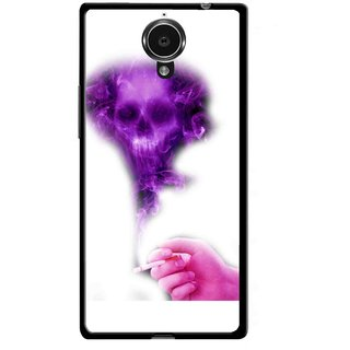 Snooky Printed Danger Mobile Back Cover For Gionee Elife E7 - Multicolour