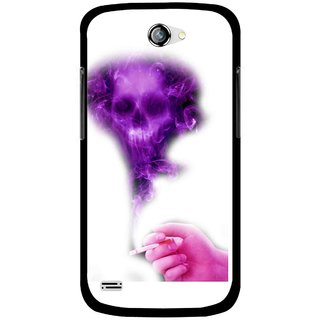 Snooky Printed Danger Mobile Back Cover For Gionee Pioneer P3 - Multicolour