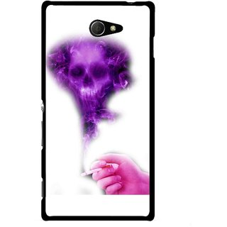 Snooky Printed Danger Mobile Back Cover For Sony Xperia M2 - Multicolour