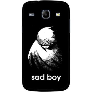 Snooky Printed Sad Boy Mobile Back Cover For Samsung Galaxy Core - Multicolour