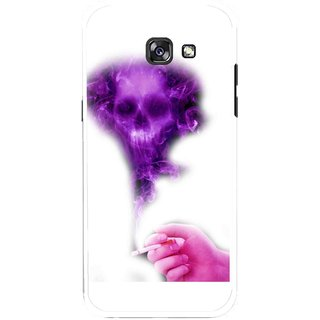 Snooky Printed Danger Mobile Back Cover For Samsung Galaxy A7 (2017) - Multicolour