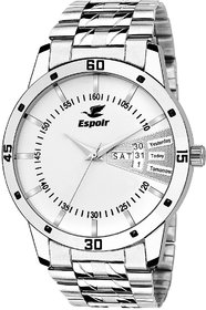 Espoir Analog Stainless Steel Day And Date White Dial M