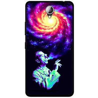Snooky Printed Universe Mobile Back Cover For Lenovo A5000 - Multicolour