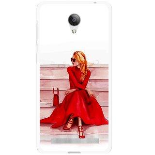 Snooky Printed Attitude Girl Mobile Back Cover For Vivo Y28 - Multicolour
