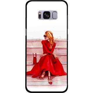 Snooky Printed Attitude Girl Mobile Back Cover For Samsung Galaxy S8 Plus - Multicolour