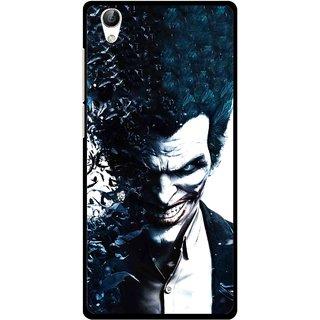 Snooky Printed Freaking Joker Mobile Back Cover For Vivo Y51L - Black