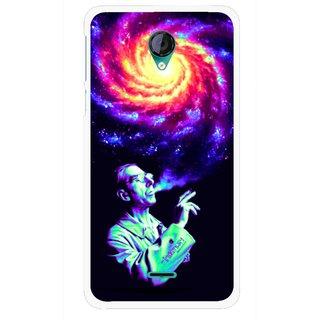 Snooky Printed Universe Mobile Back Cover For Micromax Canvas Unite 2 - Multicolour