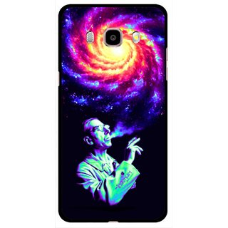 Snooky Printed Universe Mobile Back Cover For Samsung Galaxy J5 (2016) - Multicolour